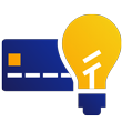 credit card and light bulb icon